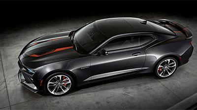 Black muscle car