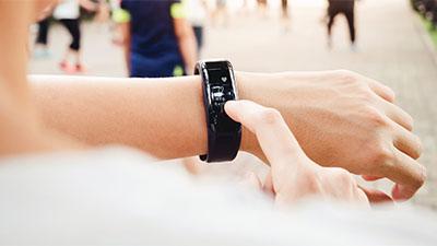 Wearable tech on wrist