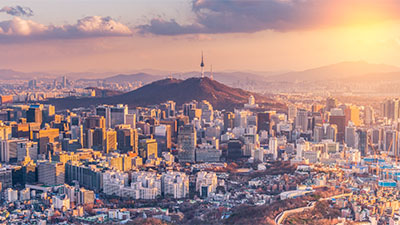 South Korea skyline