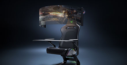 Razer's Project Brooklyn concept gaming chair prototype