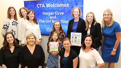 CTA Staff members and Harper Cuva